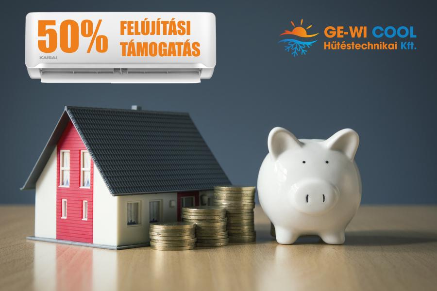 50%-os lakásfelújítási támogatás